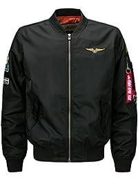 YYZYY Homme Classique Style rétro patches Flight Jacket Veste Bomber Pilot vol Flying Blousons 16 couleur XS-4XL