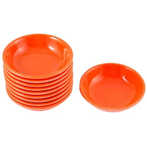 sourcingmap® Küche Sushi Sojasauce Wasabi Tauchgerichte Teller Schüssel Orange 10 Stück DE de