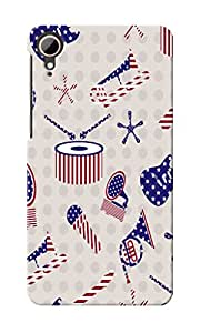 CimaCase American Abstract Designer 3D Printed Case Cover For HTC Desire 828
