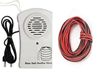 Sasti Deal Water Over Flow Alarm (White) with 15 Meter Wire
