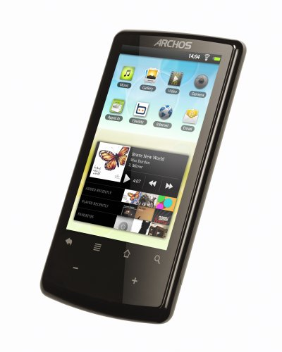 Archos 3.2 Multimedia-Player 8 GB 8,12 cm (3.2 Zoll) Touchscreen Display, Android 2.2 Froyo, WiFi, Flash Support, 360° Lagesensor, USB 2.0)