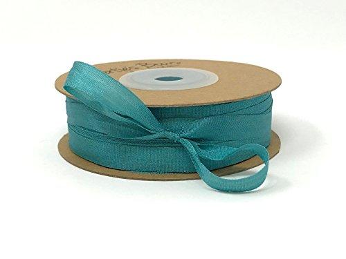 Berties 'Bögen Blaugrün 7mm 100% natürlichen Seidenband auf Einer 3m Länge (Bitte Beachten Sie: Dies ist Ein aus Einer Rolle Geschnitten, auf Ein Band Karte) (7 Mm Seidenband)
