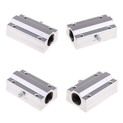 Preisvergleich Produktbild Sharplace 4pcs Aluminiumlegierung Linearlager 10mm für Werkzeuge, Maschinen, Werkzeugmaschinen