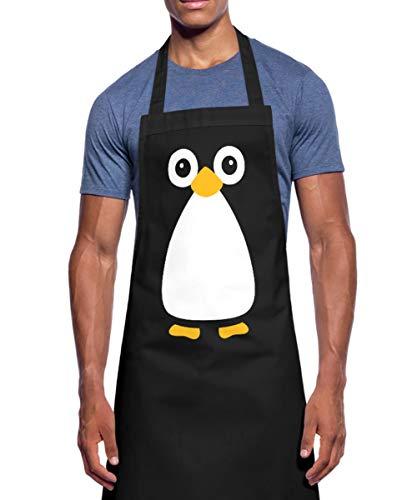 Spreadshirt Lustiger Pinguin Kochschürze, - Herr Nudel Kostüm