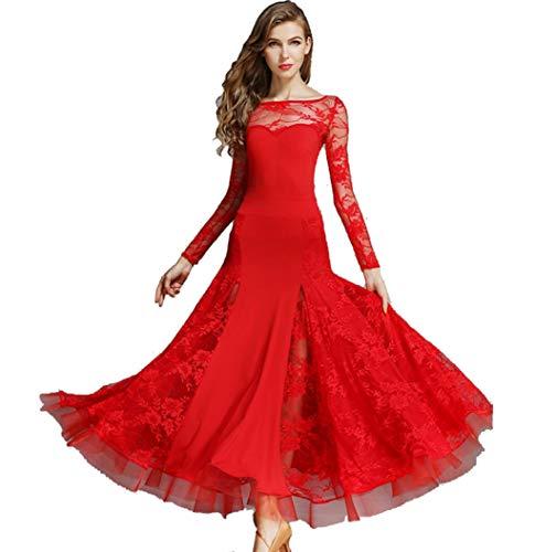 Modernes Tanzkleid Erwachsene Frau Spitze nationalen Standard Tanz Gesellschaftstanz - Tanzkleider Kostüm Für Erwachsene