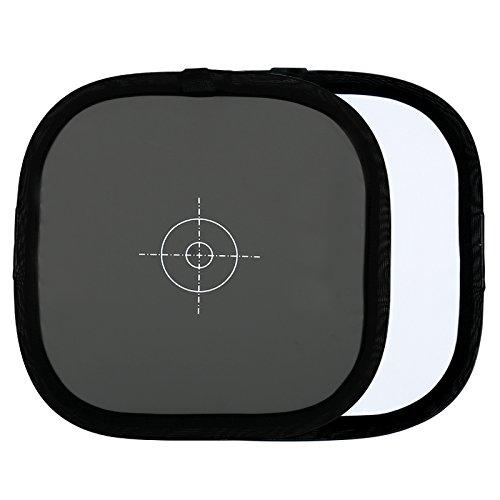 HWAMART ® MFBC Bestandskarte 12x12 Zoll (30x30cm) Double Face Two Sides 18% Grau / Weißabgleich-Karte mit einer Tragetasche für Fotografie Schießen