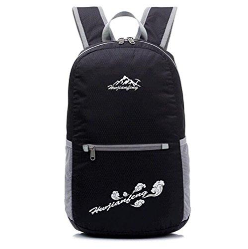Wmshpeds Sport all'aperto pacco doppio collassabile zaino Viaggi spalla borsa di pelle leggermente Ride borsa sportiva C