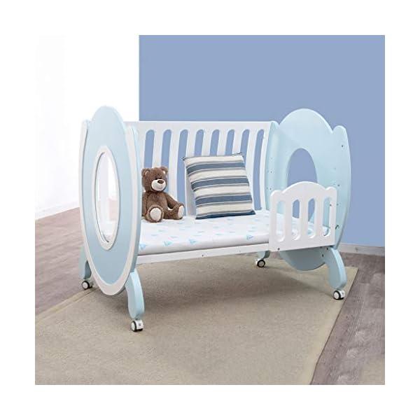 DUWEN-Cot bed Solid Wood Multifunctional Baby Cot European Toddler Bed Children's Bed Game Bed DUWEN-Cot bed  2
