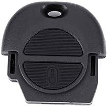 N2 Carcasa llave coche BOTONERA NISSAN 2 BOTONES Compatible con: Almera, Almera Tino,