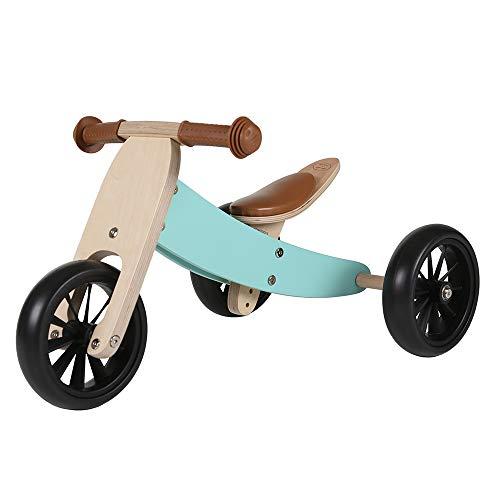 Bandits & Angels Lauflernrad / Laufrad aus Holz 4-in-1 Smartbike ab 1 Jahre (Retro Minze)