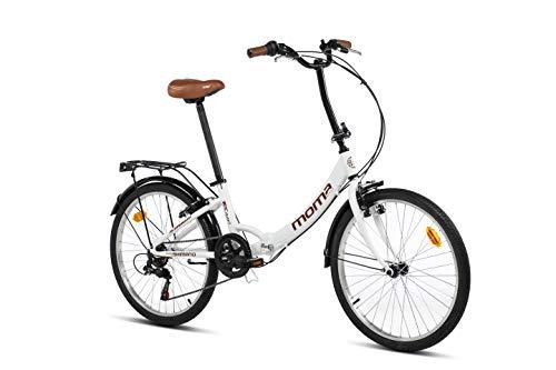 Moma bikes Top Class Blanca, Bicicletta Pieghevole Unisex Adulto, Bianco, Unic Size