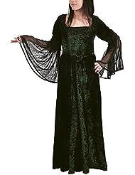 Rol en vivo - Melinda - Vestido Medieval de estilo Gotico - color verde oscuro