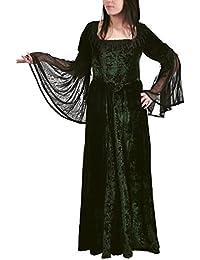 Mittelalter Gothic Kleid, Chiffon, lang, grün, Größen S - XXL