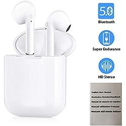 Ecouteur Bluetooth,Ecouteur sans Fil couteurs Bluetooth 5.0, Auriculaires avec Micro Stereo,TWS Oreillette Bluetooth Sport pour PC Marques de Smartphones