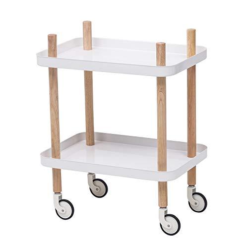 eSituro Servierwagen Küchenwagen Rollwagen Metal für Küche Bad Büro Weiß SDGC0011