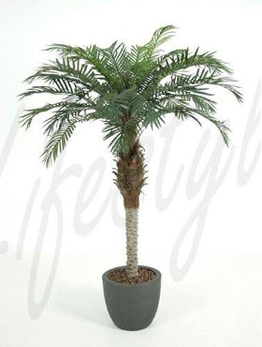 Dattelpalme 150 cm, große Kunstpflanze hochwertig, Phoenix palm Deko-Pflanze wie echt
