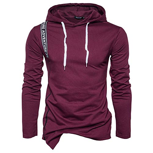 Shopaholic0709 Herren Herbst Casual Solide Langarm Zipper Hoodie Sweatshirt Top Outwear (-30%) M~2XL