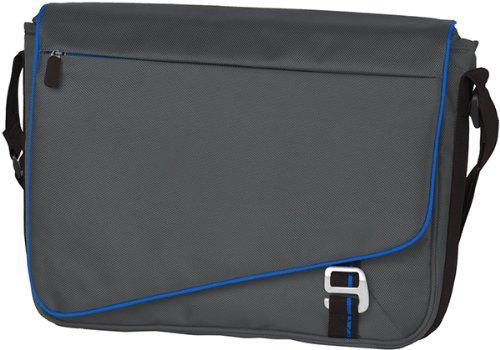 arem vollständig gepolstert Transit Messenger Bag, unisex, Deep Smoke/ Royal (Clearance Großhandel)