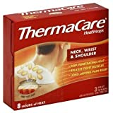 ThermaCare Heatwraps, Neck, Wrist & Shoulder 3 Heatwraps/box - Pack of 6 boxes by ThermaCare