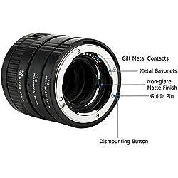 JJC 3-Pièce (12mm/20mm/36mm) Métal Bagues-allonges pour Nikon AF Caméra