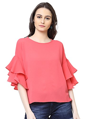 Harpa Coral Solid Blouse(gr5156-coral)
