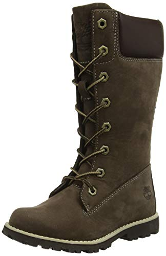 rail FTK_Classic Tall Lace Up with Side Zip Mädchen Combat Boots, Braun, 37 ()