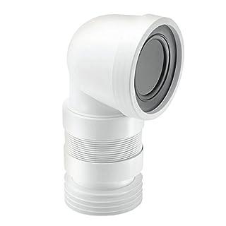 McAlpine WC-CON8F18 90 Degree Flexible WC Connector, White