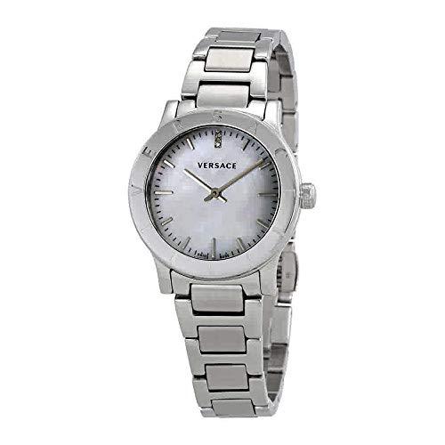 Versace Reloj Analógico para Mujer de Cuarzo con Correa en Acero Inoxidable VQA080017