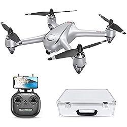 Potensic Drone GPS D80 Kit 5G WiFi FPV avec Moteur sans balais Version améliorée 2K Caméra Grand Angle Fonction l'altitude de Suspension Positionnement GPS, Mode Suivez-Moi
