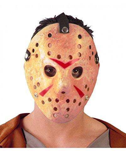Verdreckte Jason Eishockey Horror Maske für Halloween & Horrorfilm Fans