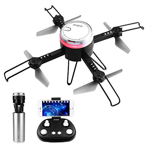 HELIFAR L6062 Drone con Telecamera, Mini Drone con WiFi FPV HD 720P App, Pieghevole RC Come IP Camera, Headless Modo e Altitude Hold Ideale Regalo per Bambini e Adulti