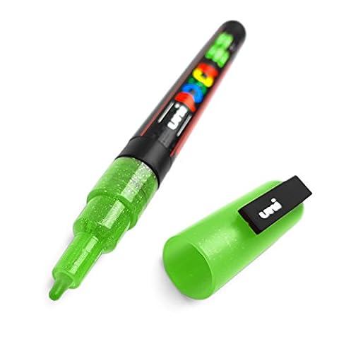 POSCA - PC-3ML Glitter Paint Markers - Single Pen - Green
