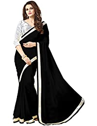 Online Fayda Women's Georgette Saree With Blouse Piece (Ofps0Sabk_Black)
