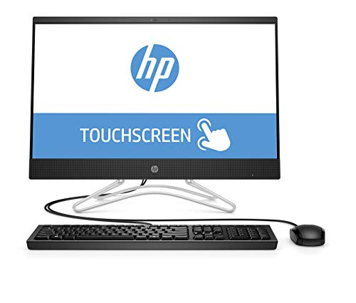 HP 22-c0014ng (21,5 Zoll Full HD Touch) All-in-One PC (Intel Pentium J5005, 4GB DDR4 RAM, 128GB SSD, Intel UHD Grafik 600, Windows 10 Home) schwarz