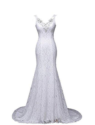 Ysmo-Womens-Lace-Mermaid-Prom-Dresses-Beaded-V-Neck-Wedding-Dresses-For-Bride