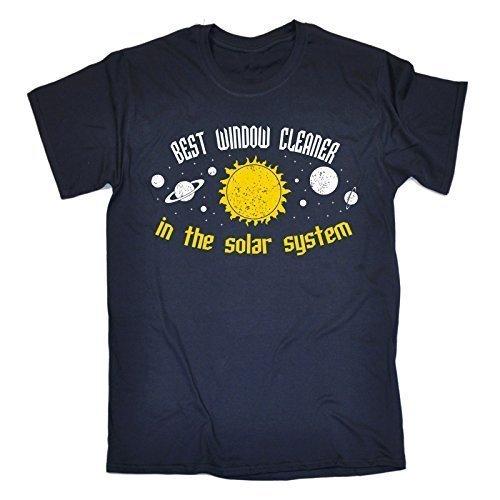BEST 123t ... SOLAR SYSTEM Men's BEST Scheibenreiniger im Sonnensystem ... GALAXY LOOSE FIT T-SHIRT-DESIGN - Blau - Navy, L