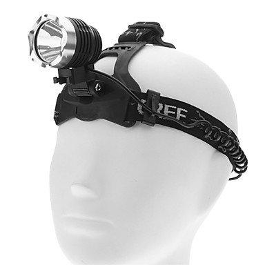 GDW Torce LED/Torce frontali - LED - Immersione/Nautica/Ciclismo - Ricaricabile 3 Modo 1000 Lumens 18650 Cree XM-L T6 Batteria Altro T6