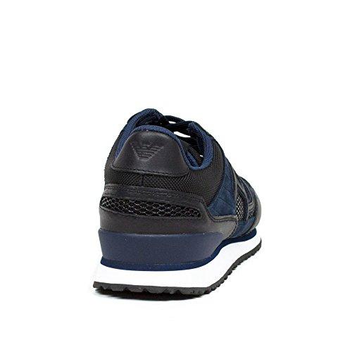 Basket, couleur Blue , marque ARMANI JEANS, modÚle Basket ARMANI JEANS B KAYTAN B Blue blue