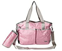 Yodo Versatile Baby Changing Bag with Insulated Feeding Bottle Holder, Pink