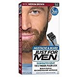 Just For Men Brush-In Color Mustache & Beard - Medium Brown M-35