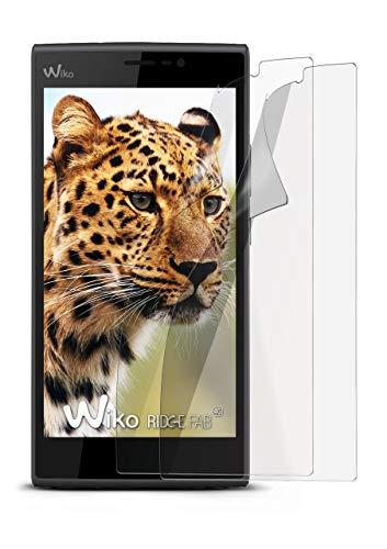 2X Wiko Ridge Fab 4G | Schutzfolie Matt Bildschirm Schutz [Anti-Reflex] Screen Protector Fingerprint Handy-Folie Matte Bildschirmschutz-Folie für Wiko Ridge Fab 4G Bildschirmfolie