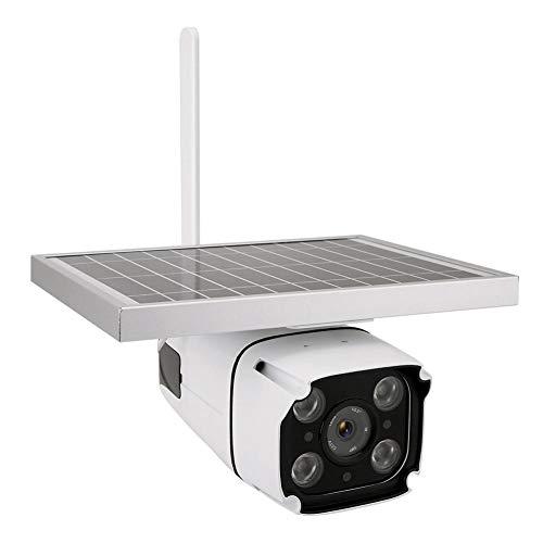Solar Überwachungskamera, 1080P Wireless IP Kamera mit 5.5W High Power Solar Panel Unterstützung SD Kartenspeicher, IP67 wasserdicht, PIR Sensor für Outdoor Smart Home Security Kamera(EU) -