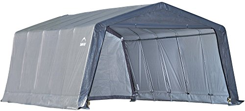 ShelterLogic Foliengarage Garage in-a-Box, 18,13m² grau // 370x490 cm (BxT) // Foliengarage, Garage...