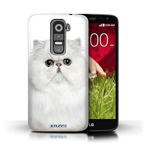 Kobalt® Imprimé Etui / Coque pour LG G2 Mini/D620 / Abyssinien conception / Série Espèces de chats Persan Blanc