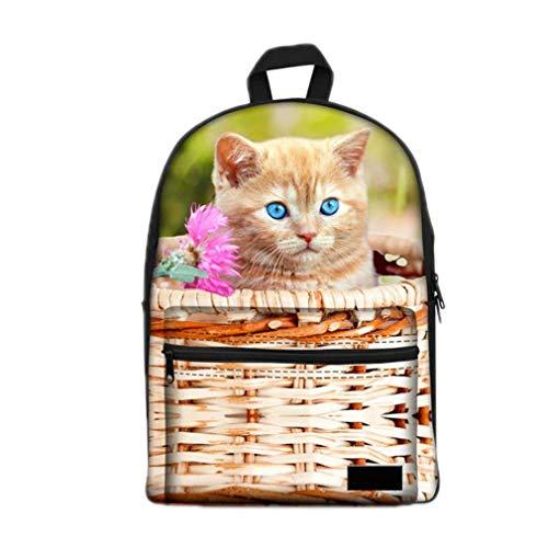 Jungen-Mädchen-Schultasche-lustige Schultaschen der Katze-3D (Box Lunch Oakley)