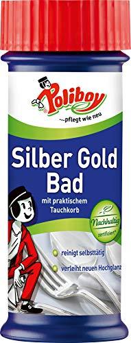 Poliboy Silber Gold Bad mit praktischem Tauchkorb, 375 ml
