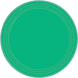 Amscan 22.8cm Plata Internacional S/C (verde festivo)