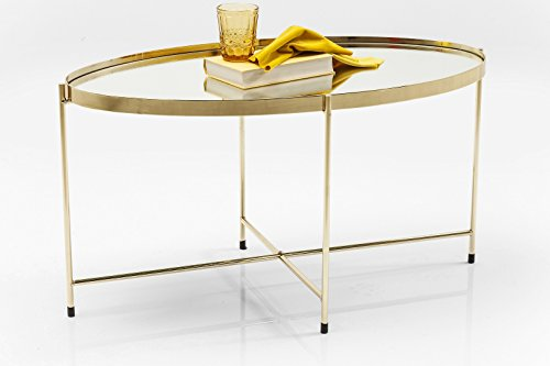 Kare Couchtisch Miami Oval Brass Messing