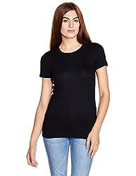 GAP Womens Plain T-Shirt (142250100045_24190213702_True Black_XL)