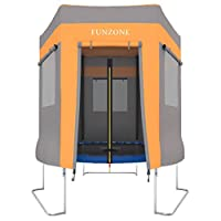 ultrasport trampoline play tent for garden trampoline ultrasport jumper, blue/pink